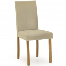 Dozza Dining Chair Faux Leather Cream