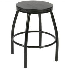 Nomi Stool Metal & Wood Black