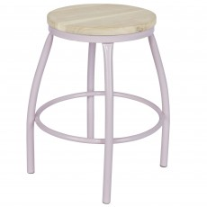 Nomi Stool Metal & Wood Nude