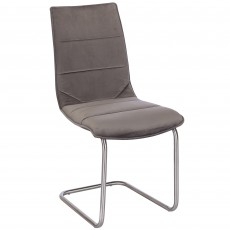 Martha Dining Chair Suede Grey