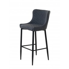Quebec Bar Stool Faux Leather Grey