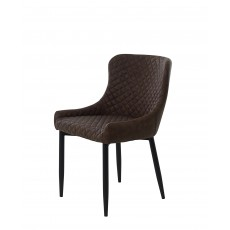 Ottowa Dining Chair Faux Leather Brown