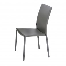Chia Faux Leather Dining Chair Grey