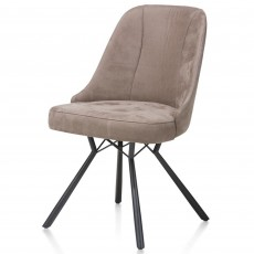 Eefje Dining Chair Suede Effect Taupe