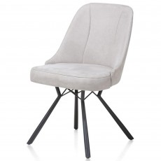 Eefje Dining Chair Suede Look Light Grey