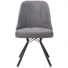 Eefje Dining Chair Suede Effect Light Anthracite