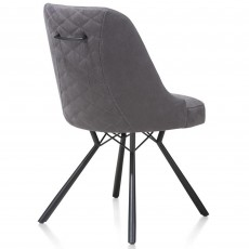 Eefje Dining Chair Suede Look Light Anthracite