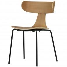 Form Dining Chair With Natural Wood Seat