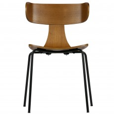 Form Dining Chair With Brown Wooden Seat