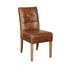 Colin Dining Chair Faux Leather Brown