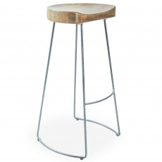 Re-Engineered Tractor Seat Bar Stool Mango
