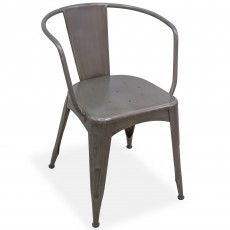 Re-Enginered Navy Dining Chair Gunmetal