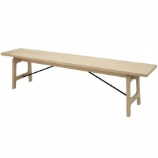 Norso 3 Person Dining Bench Oak