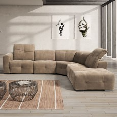 Egoitaliano Sauvanne 4 Seater Sofa With 2 Electric Recliners Leather Category C
