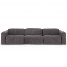 Egoitaliano Sauvanne 3.5 Seater Sofa With 2 Electric Recliners + 3 Seat Cushions Leather Category C