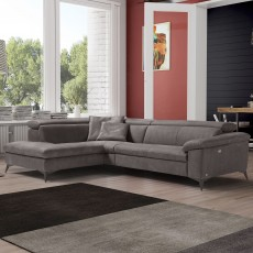 Egoitaliano Martine 4 Seater Sofa With 2 Electric Recliners Microfibre Fabric