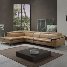 Egoitaliano Martine 5+ Seater Sofa With Chaise LHF + 1 Electric Reclining Position Microfibre Fabric