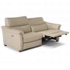 Natuzzi Editions Menandro Electric Reclining 2.5 Seater Sofa LHF Leather Category 15(S)