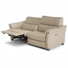 Natuzzi Editions Menandro Electric Reclining 2.5 Seater Sofa RHF Leather Category 15(S)