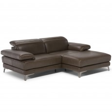 Natuzzi Editions Fontanelle 2 Seater Modular Corner Sofa With Chaise RHF Leather Category 15(S)