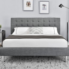 Glarus Single (90cm) Fabric Bedstead Charcoal