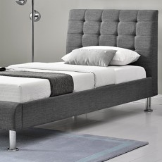 Glarus Double (135cm) Fabric Bedstead Charcoal
