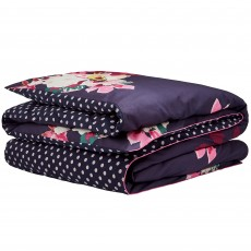 Joules Winter Bloom Double Duvet Cover Navy
