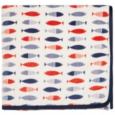 Helena Springfield Tropez/Larvotto Fleece Throw Nautical 140cm x 180cm