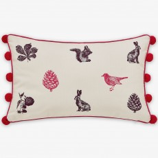 Joules Harvest Garden Cushion Bilberry 30cm x 50cm