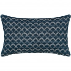 Peacock Blue Hotel Soller Cushion Prussian Blue 30cm x 50cm