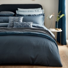 Peacock Blue Hotel Rivage Double Duvet Cover Prussian Blue