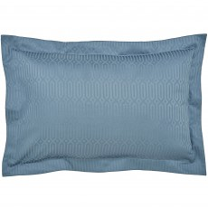 Peacock Blue Hotel Rivage Oxford Pillowcase Prussian Blue