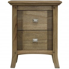 Utopia Ash Narrow 2 Drawer Bedside Locker
