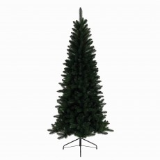 180cm/6ft Lodge Slim Pine Christmas Tree Green