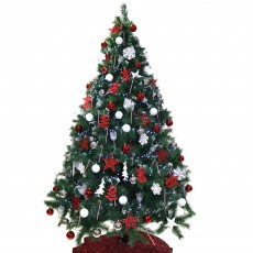 210cm/7ft Decorated Christmas Tree
