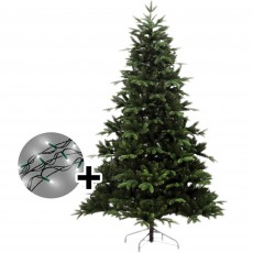 210cm/7ft Noble Pine Tree & 480 LED Twinkle Warm White Lights