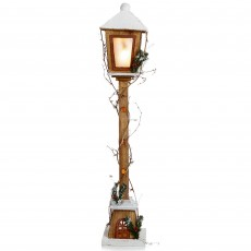 Wooden Street Lamp Battery Operated 1 Metre