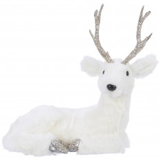 Foam Deer With Antlers Laying 24cm