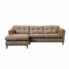 Alexander & James Saddler 4 Seater Sofa with Chaise LHF Tote Leather