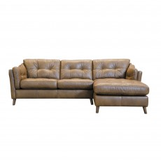 Alexander & James Saddler 4 Seater Sofa with Chaise RHF Tote Leather