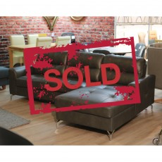 Lambro 3 Seater Sofa With Chaise Faux Leather SOLD