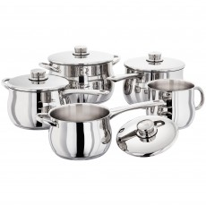 Stellar 1000 5 Piece Deep Saucepan Set with Stock Pot