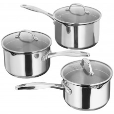 Stellar 7000 3 Piece Saucepan Set With Glass Lids