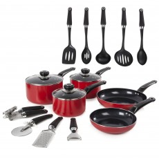 Morphy Richards Equip 5 Piece Saucepan Set with 9 Free Utensils