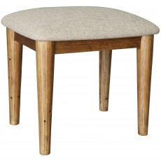 Layla Bedroom Stool With Fabric Seat Pad Reclaimed Wood