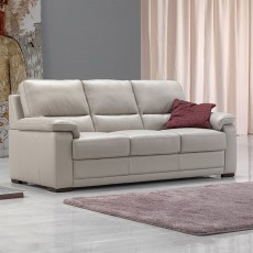 Egoitaliano  Doris 3 Seater Sofa With 2 Seat Cushions Leather Category B