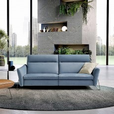 Egoitaliano Gaia 3.5 Seater Sofa With 2 Electric Recliners Leather Category B