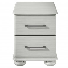 Berrington 2 Drawer Bedside Locker Light Grey