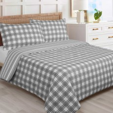 Richard Inglis Dominoes King Size Duvet Cover Set Grey