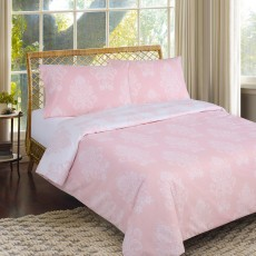 Richard Inglis Fleur Double Duvet Cover Set Pink